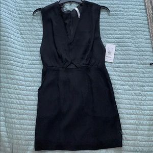 Black RVCA dress with front cut out